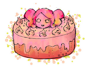 争いをうむほど美味しい視点蝶ケーキ