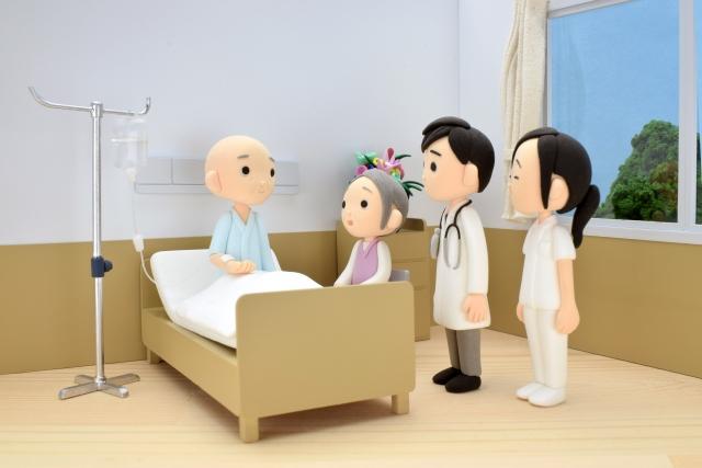 病室 医師と患者