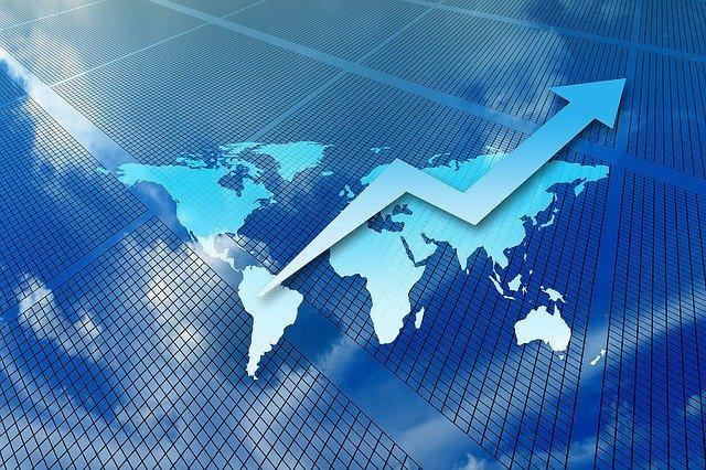 世界経済 上昇イメージ