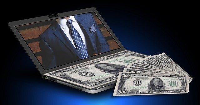 ビジネスマン ドル紙幣