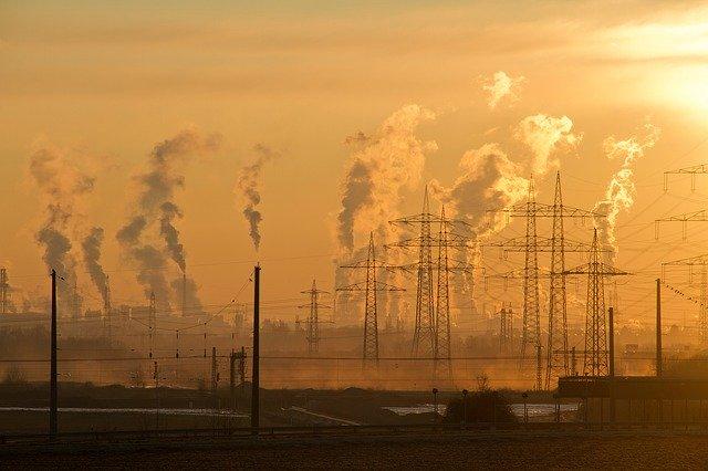 大気汚染された都市
