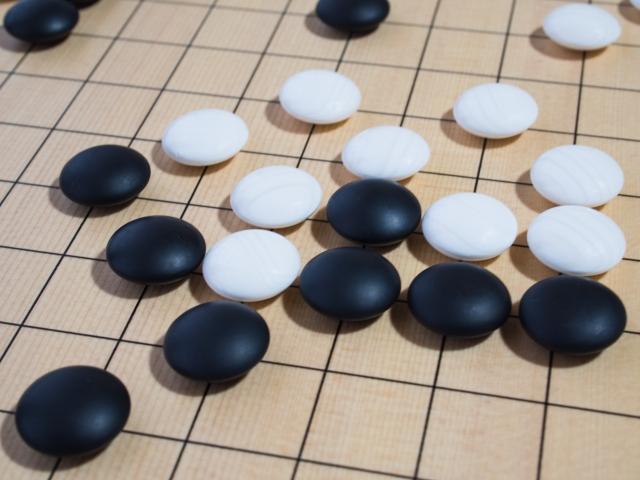 囲碁盤と駒