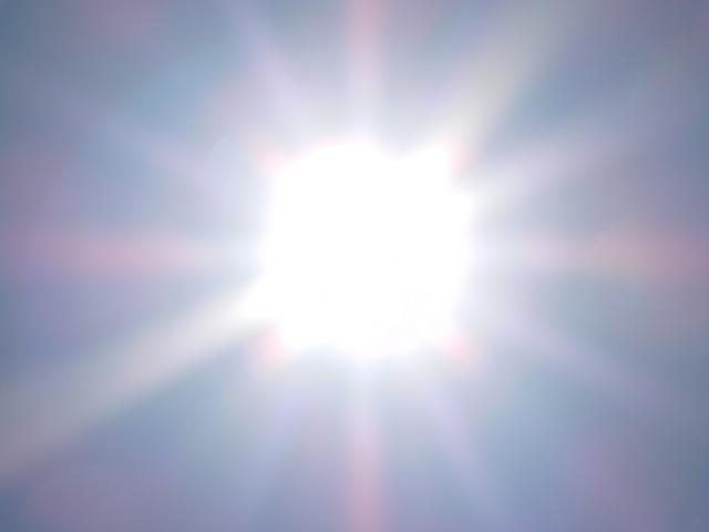 真夏の日差し