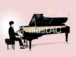 花太郎BLOG_ピアノを弾く男性?