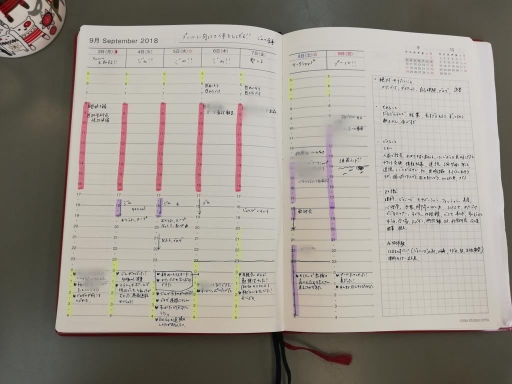 手帳 バーチカル マイルドライナー 時間術 24時間 蛍光ペン 視覚化