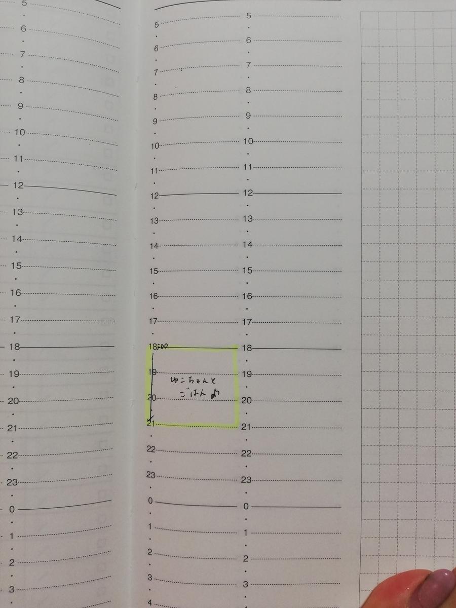 バーチカル手帳 使い方 予定 時間管理 マンスリー 比較 チッタ手帳 CITTA 時間軸