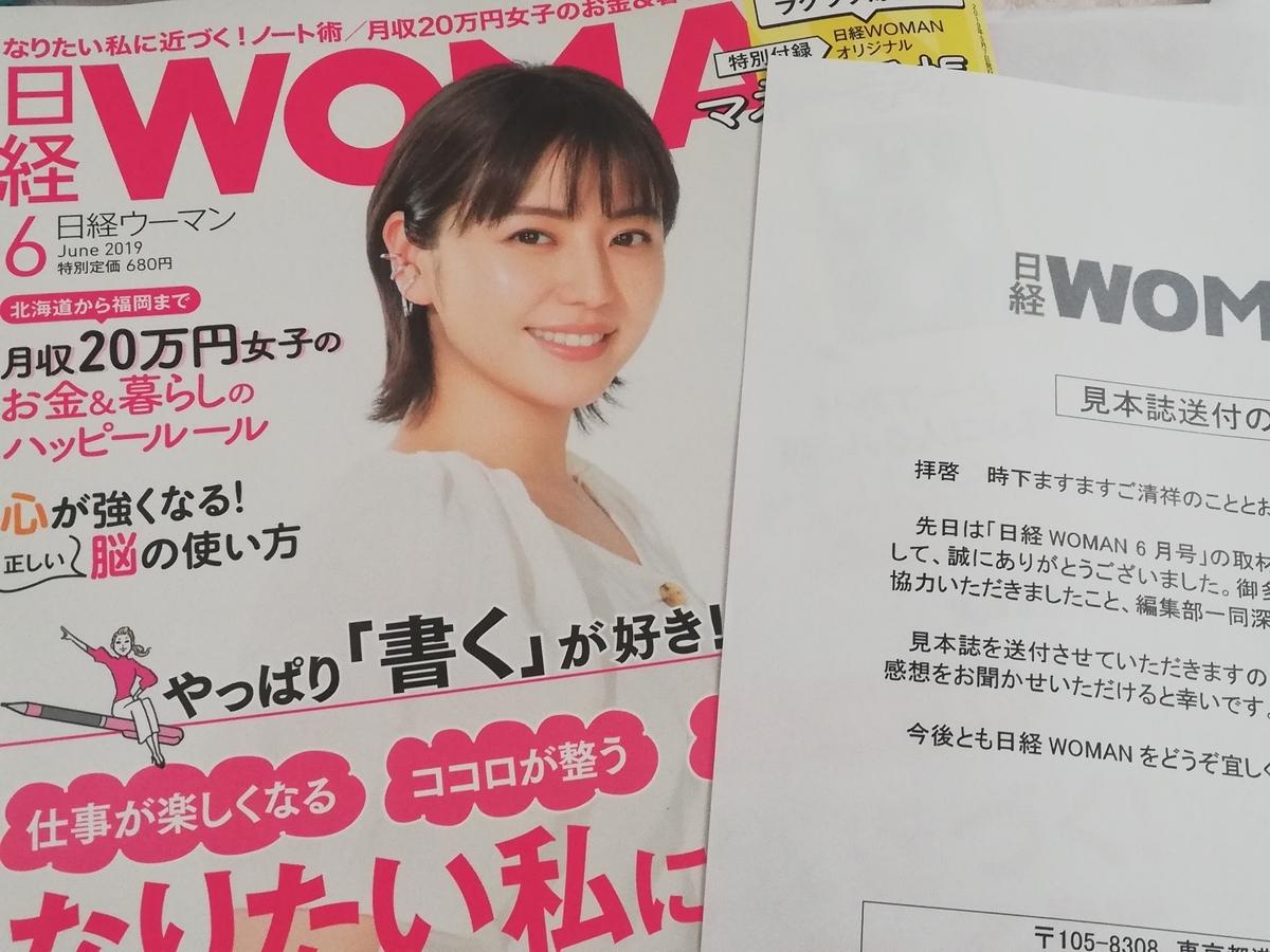 憧れの雑紙『日経ウーマン』に載った話 掲載 読者 日経WOMAN 女性