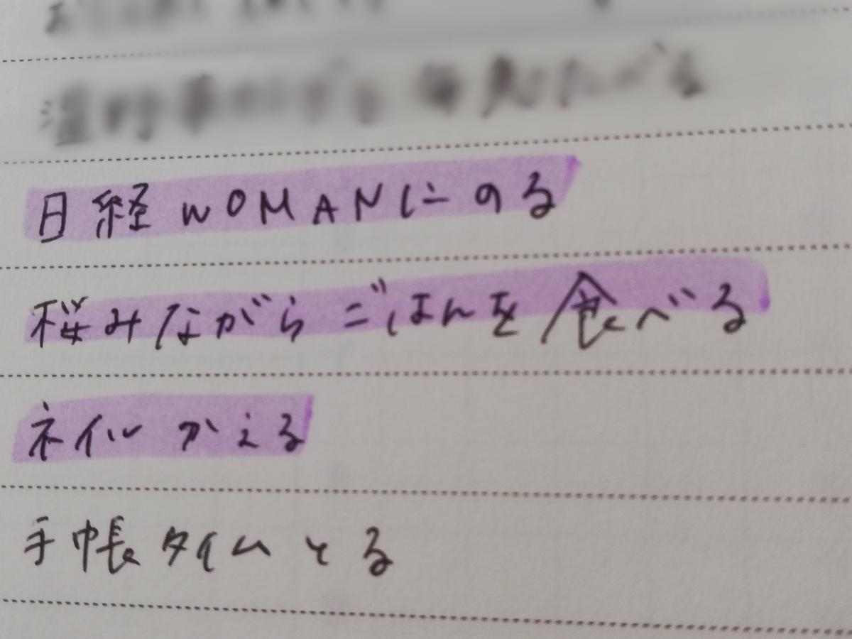 日経WOMAN  日経ウーマン 掲載 レポート 取材 ワクワクリスト 手帳 夢 脳とメンタル