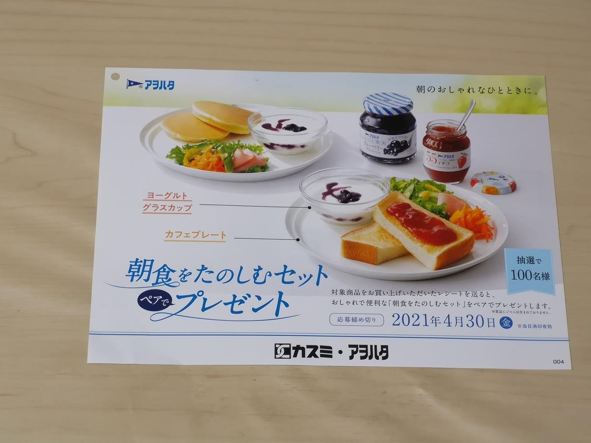カスミ×アヲハタ朝食をたのしむセット ペアでプレゼントキャンペーン