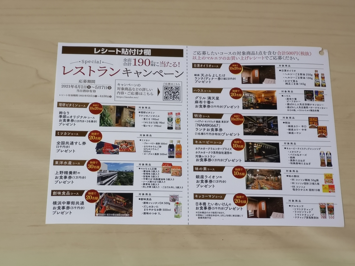マルエツ Special レストランキャンペーン