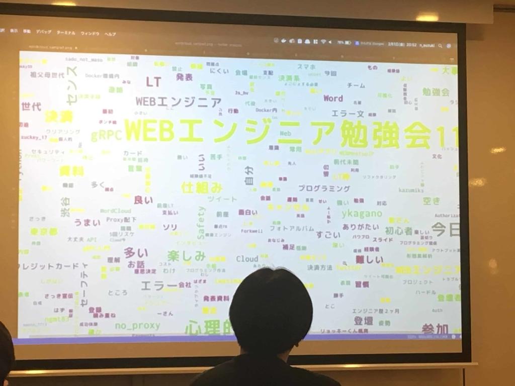 Word CloudでWEBエンジニア勉強会#11のtweetを可視化