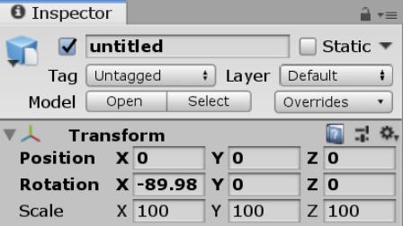 Blenderから出力したFBXファイルをUnityに持っていくとRotationやScaleが100倍になったりとおかしくなる