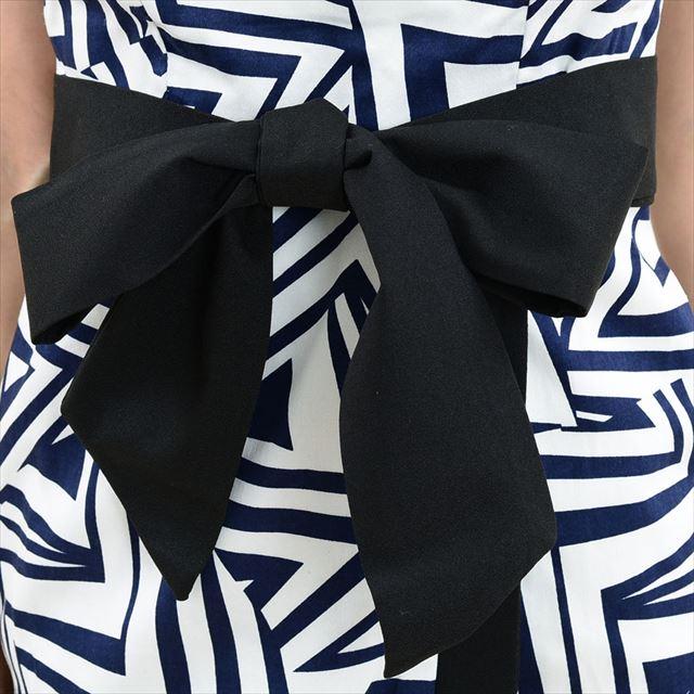 アシンメトリー幾何学柄リボンミニドレス キャバドレス パーティー ファッション 通販