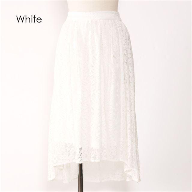 総レース重ね着スカート 結婚式 二次会 脚細美脚 ファッション