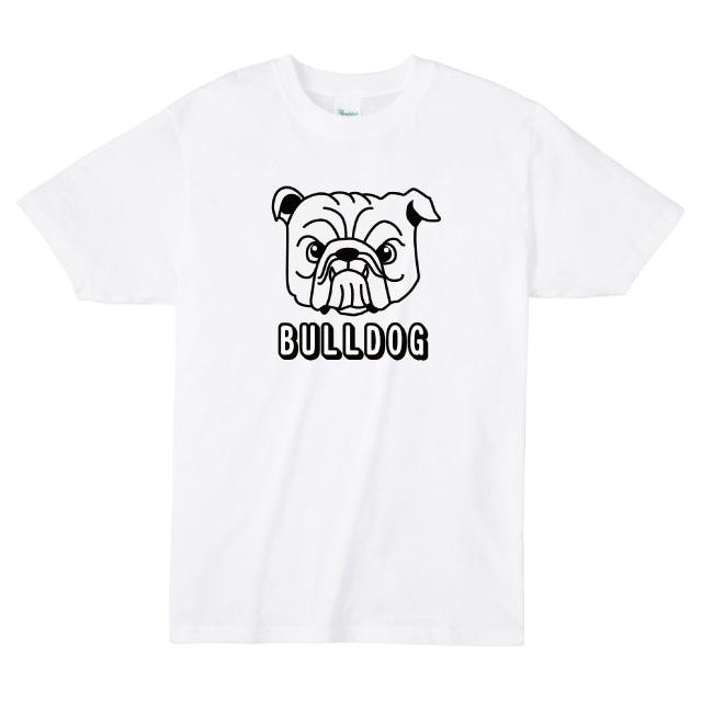 ブルドックロゴプリントTシャツ オリジナル ファッション