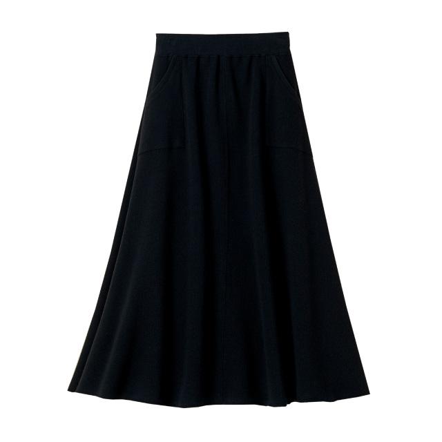 ウエスト紐マキシスカート ファッション デイリー