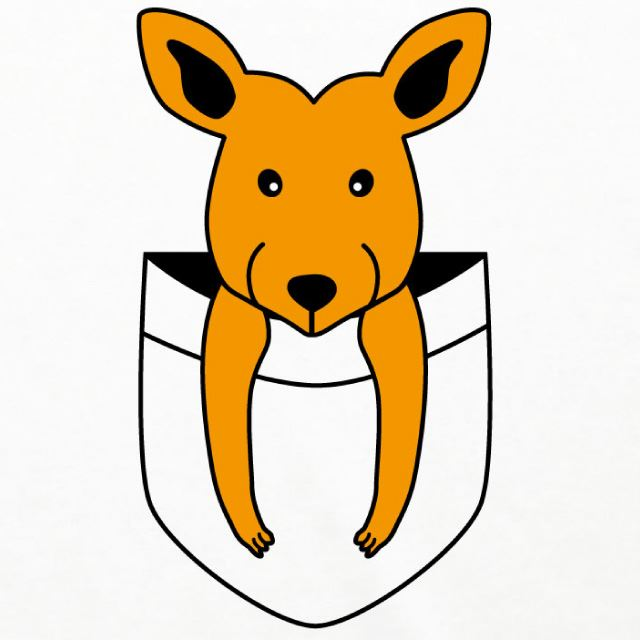 子供カンガルー七分袖Tシャツ 動物 アニマル ラグランTシャツ オリジナル ファッション