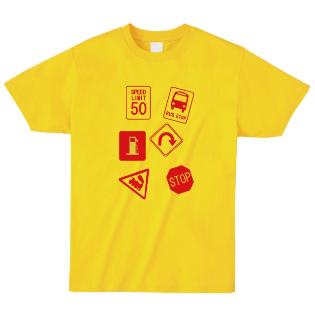 交通標識プリントTシャツ おもしろ オリジナル ファッション