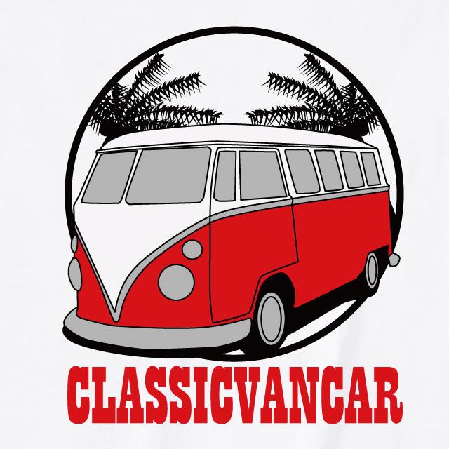 クラシックカーバンプリントTシャツ オリジナル おもしろ