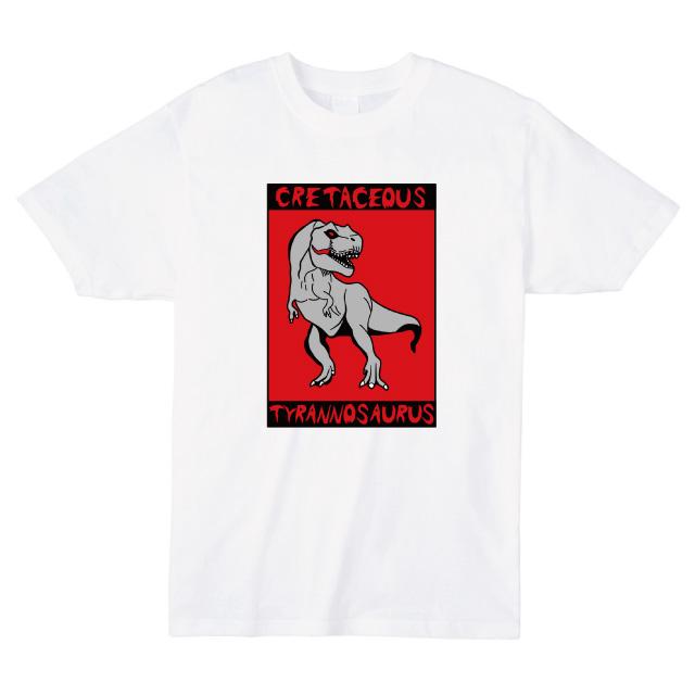 恐竜プリントTシャツ ティラノサウルス T-REX オリジナル