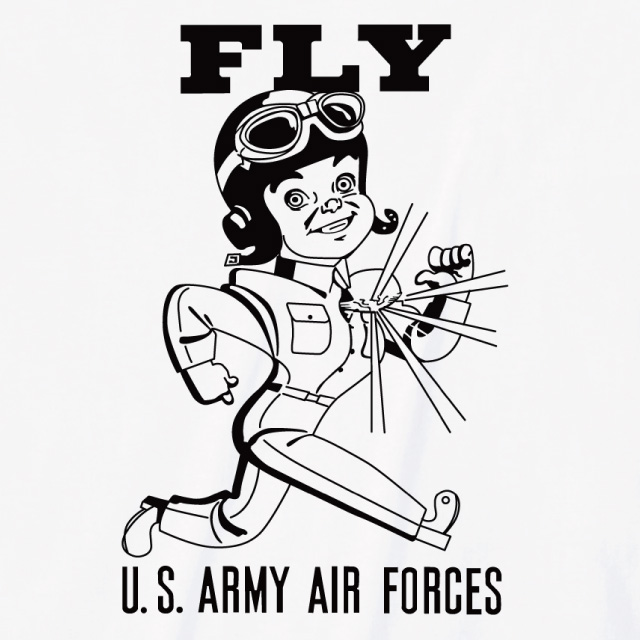 US army-airforces プリントTシャツ オリジナル ミリタリー