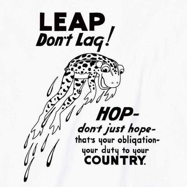 LEAP DON'T LAQ!プリントTシャツ