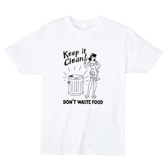 Keep it Clean プリントTシャツ