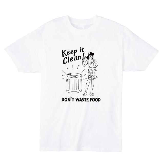 Keep it Clean プリントTシャツ