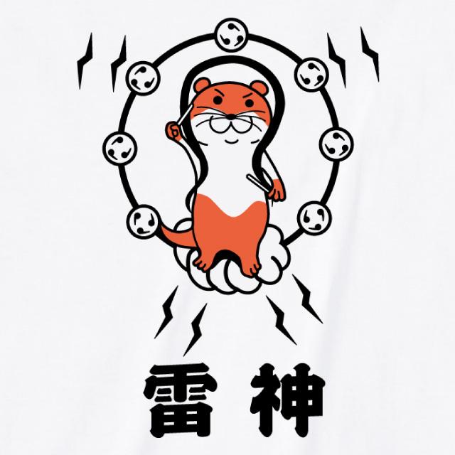 雷神プリントTシャツ