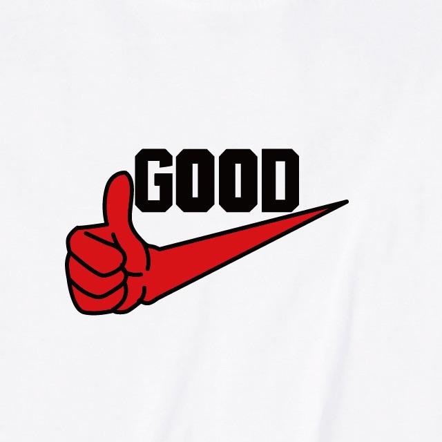 GOODロゴプリントTシャツ おもしろ