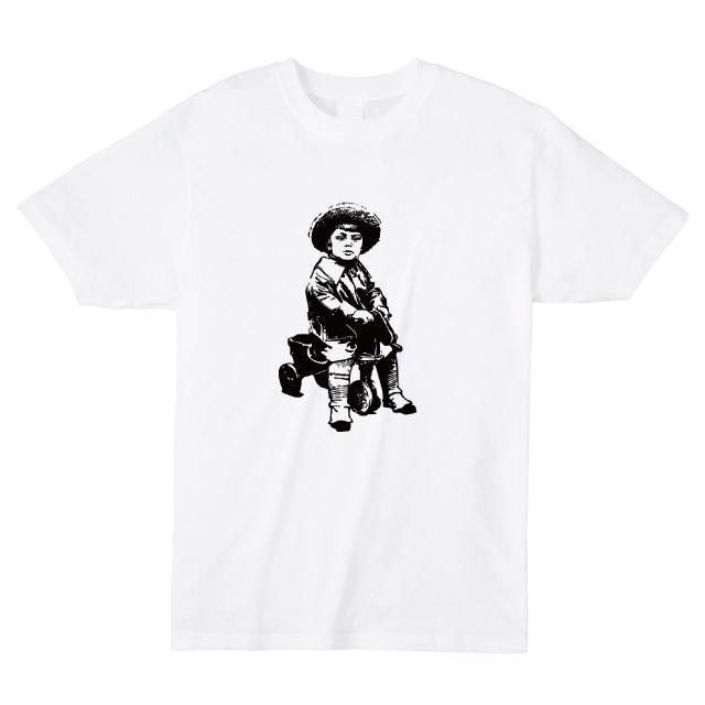 少年と三輪車Tシャツ