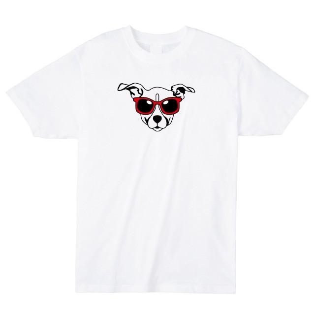 サングラスドッグプリントTシャツ