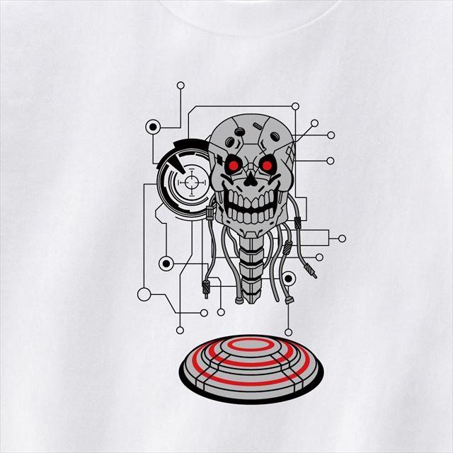 ロボットスカルプリントTシャツ