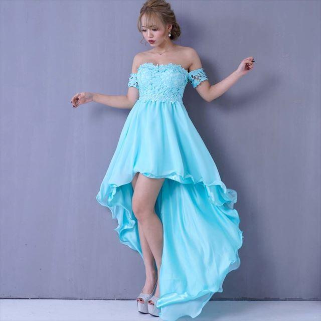 全5色 レーステールプリンセスロングドレス