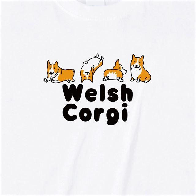 コーギプリントTシャツ