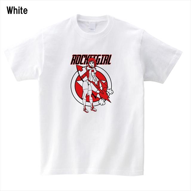 ロケットガールプリントTシャツ