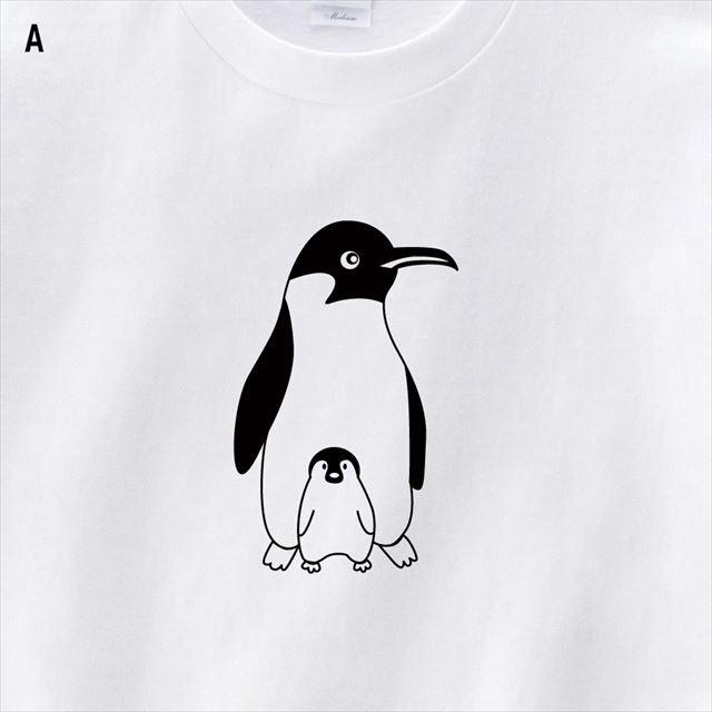 ペンギン親子プリントTシャツ
