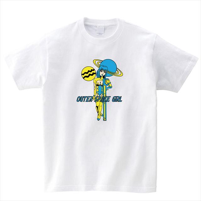 スペースガールプリントTシャツ おもしろ キャラクター