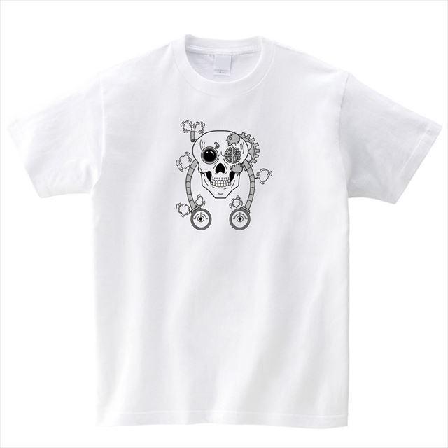 スチームパンクスカルプリントTシャツ