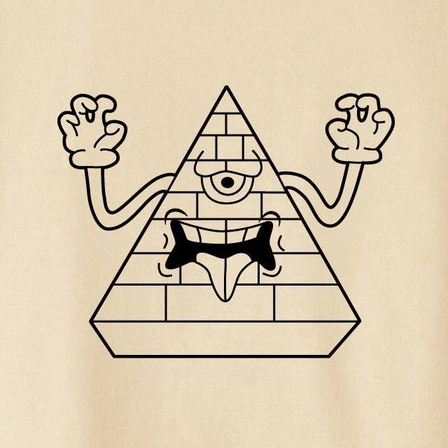 モンスターピラミッドプリントTシャツ