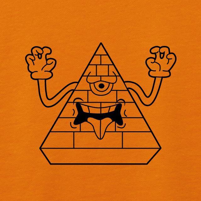 モンスターピラミッドプリントスウェット
