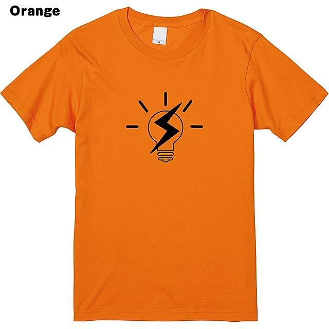 稲妻電球ロゴプリントTシャツ