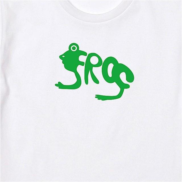 生物表現フォントFrogロゴTシャツ