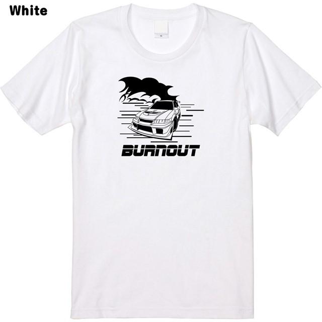 バーンアウトロゴプリントTシャツ