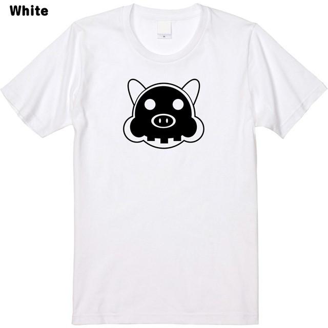 骨まで丸見え豚プリントTシャツ