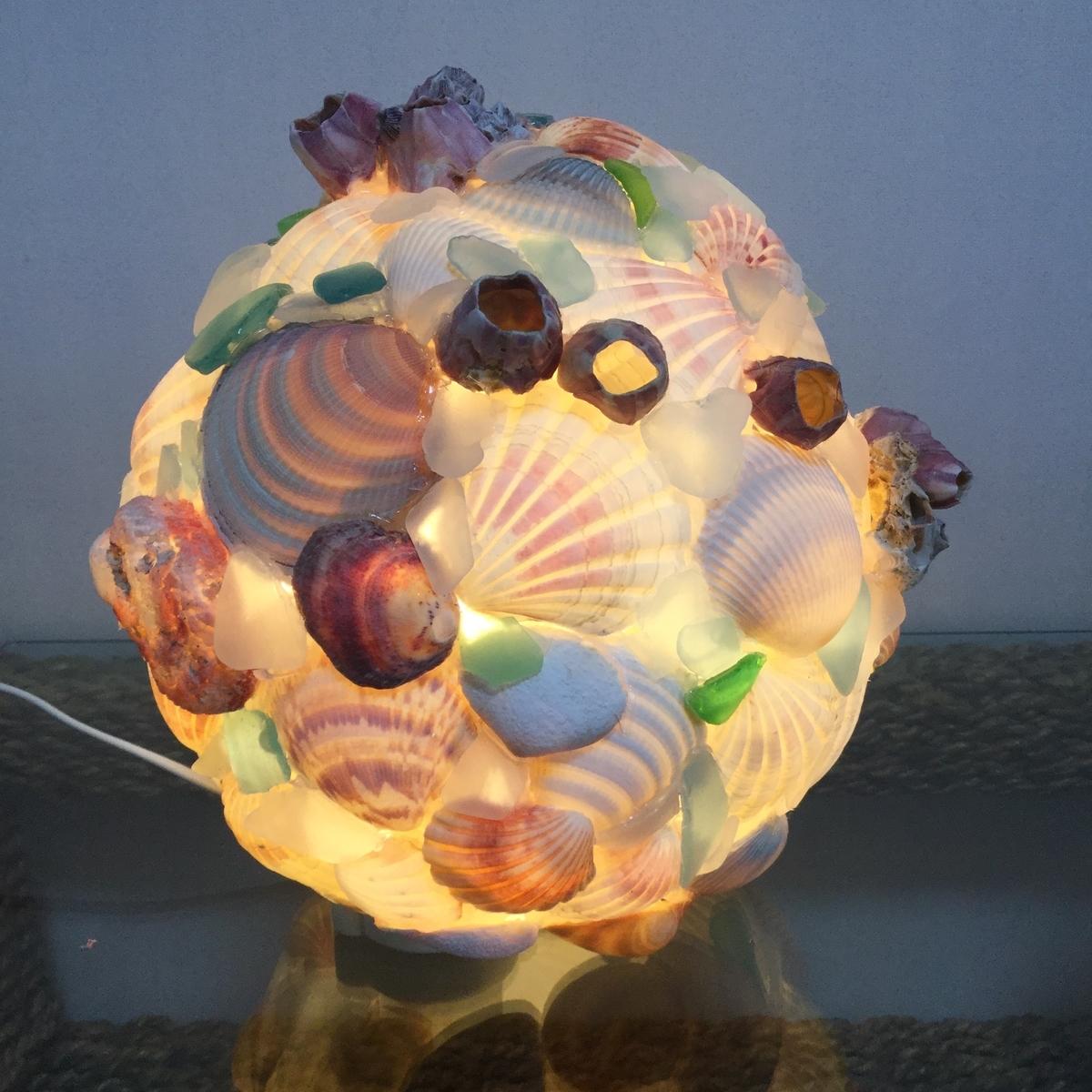 貝殻を使ったDIYランプ・ライト