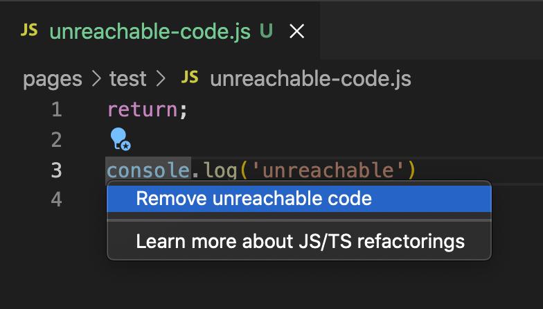 到達不可能なコード