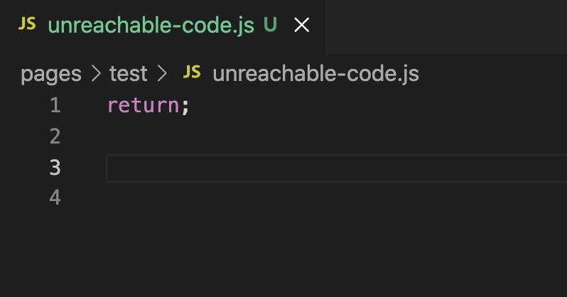 Remove unreachable code 実行後