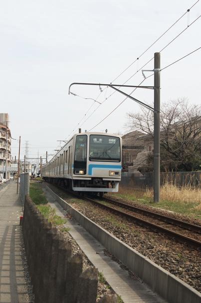 電車が来た 分岐点反対側