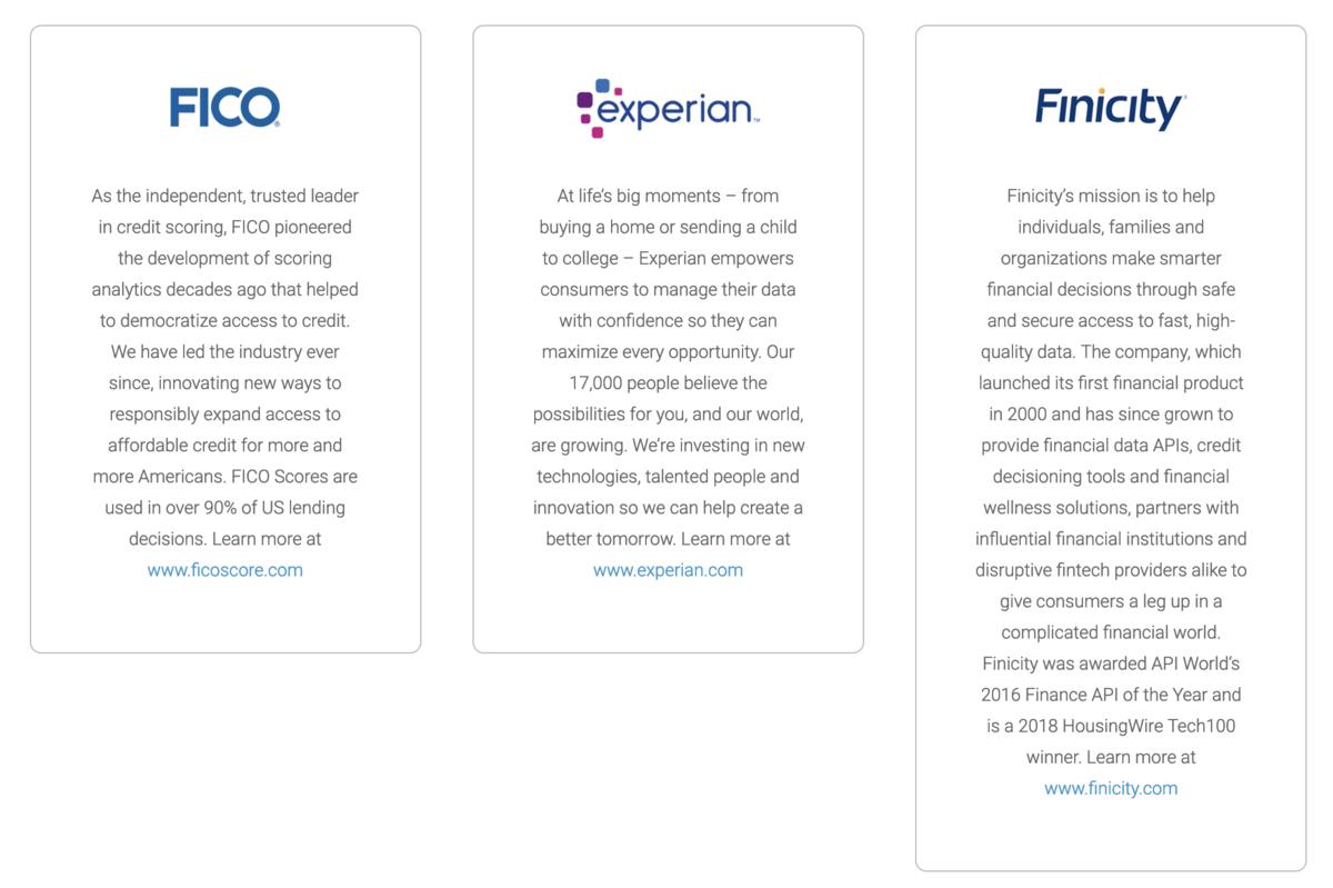 UltraFICOは、FICO、Experian、Finicityの3社のパートナーシップにより作られた